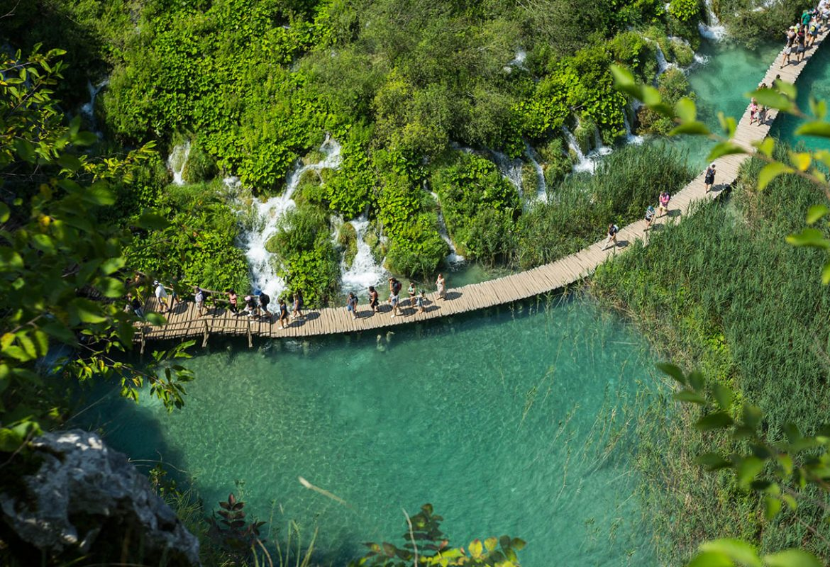 Beautiful view in Plitvice Lakes National Park. Croatia